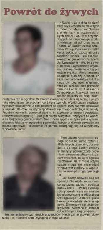 Alexander Ostrogski w prasie