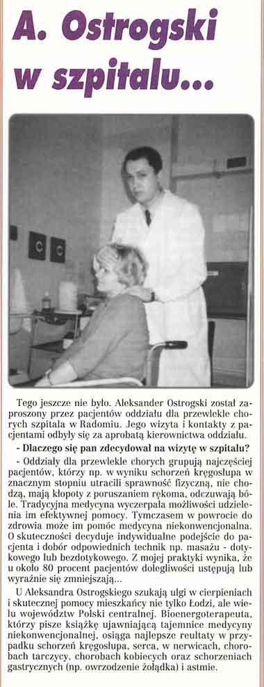 Bioenergoterapeuta w szpitalu